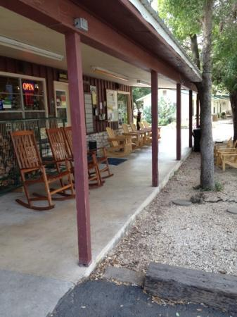 Yogi Bear's Jellystone Park Camp-Resort Hill Country: leisurely rocking the day away at the store