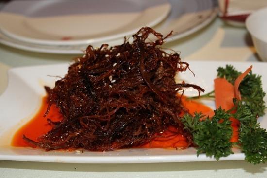 Spicy fine beef threads