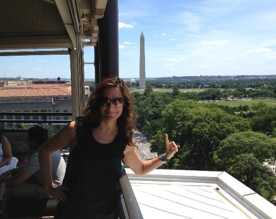 W Washington D C View From Rooftop Terrace