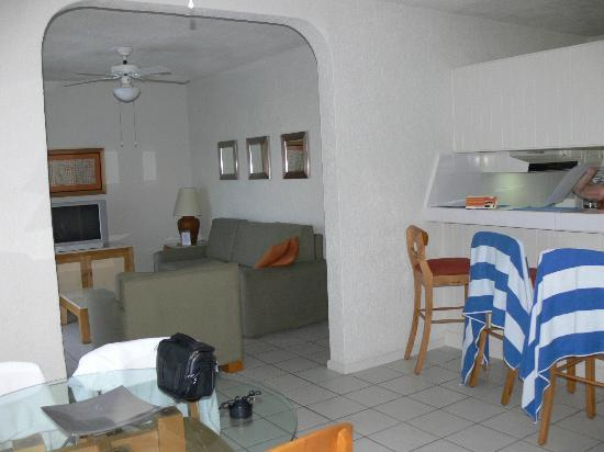 Park Royal Los Cabos: From the dining room, part of the kitchenette and living room in the Royal Suite
