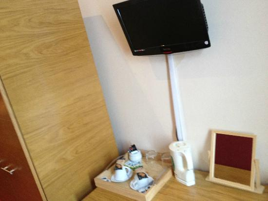 Newton Hotel: TV with DVD (never actually used by us)