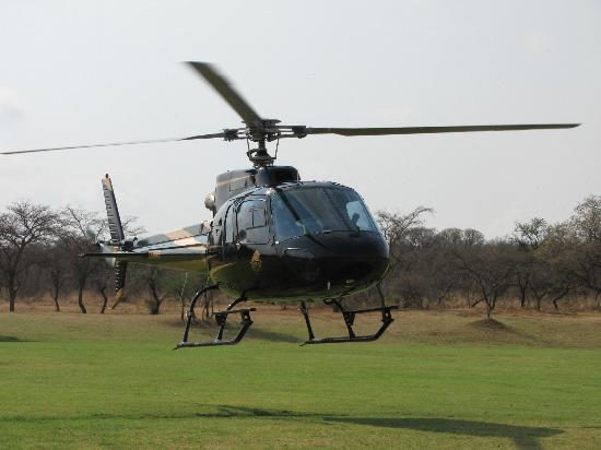 Ravineside Lodge: Helicopter ride