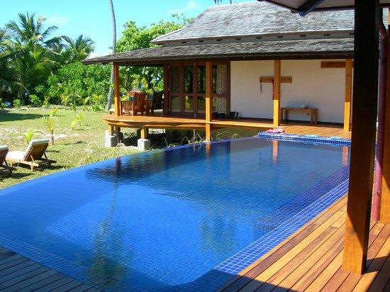 Desroches Island : piscina della villa