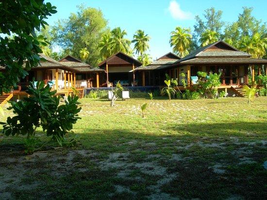 Desroches Island: villa vista dal giardino