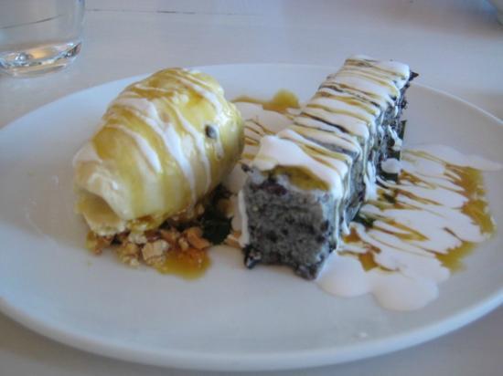 China Beach: Black Sticky Rice custard with Kaffir lime ice cream