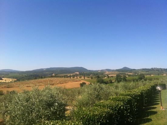 Agriturismo Sanguineto Montepulciano Hotel: la vista dalla piscina