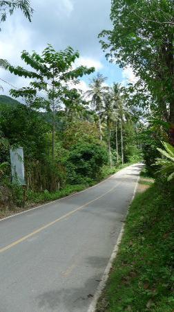 วิภา ทรอปิคัล รีสอร์ท: Route menant vers l'hôtel