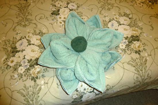 Heritage Highway Motel: Towel Flower
