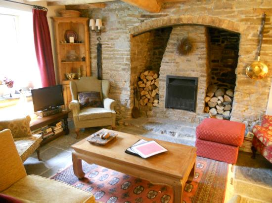 Birches Mill: Fireplace in sitting room