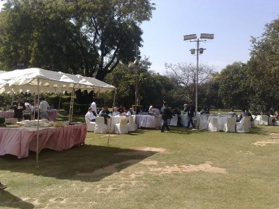 The Ashok: Lunch after Confrence in the Lawns