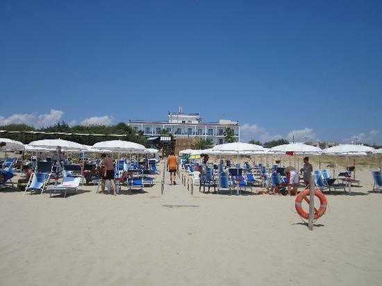 Ticho's  Hotel: vista spalle al mare