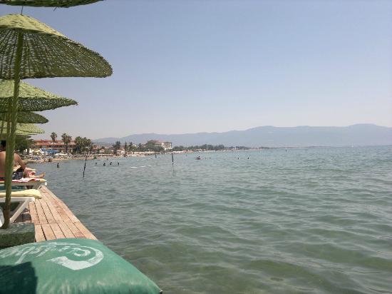 Ephesia Holiday Beach Club: Captain Beach Decking (Beach Front) 