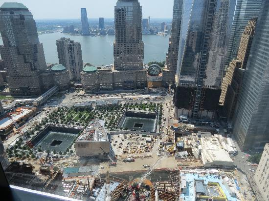 Here Is The View Of The World Trade Center Memorial From