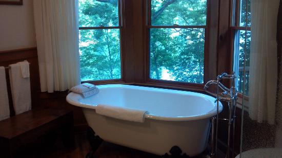 The Lodge on Lake Lure: Roman Holiday Room - Bath Area