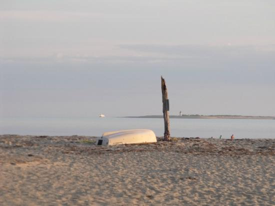 Kalmar Village: beach view at low tide and sunset
