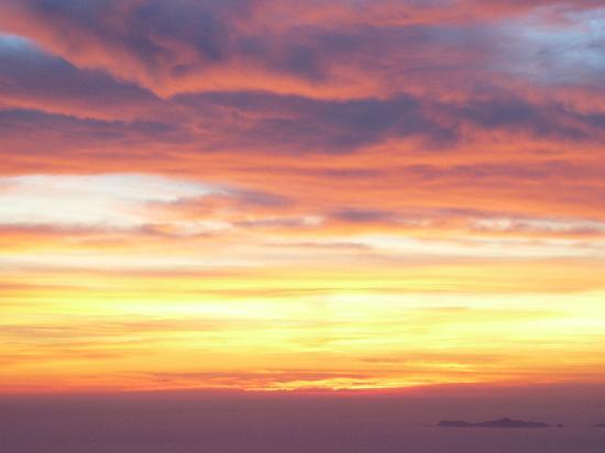 Hotel Le Belvedere: coucher de soleil dans la baie d'ajaccio