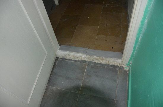 Stray Cat Hostel : Entrance and the broken sill