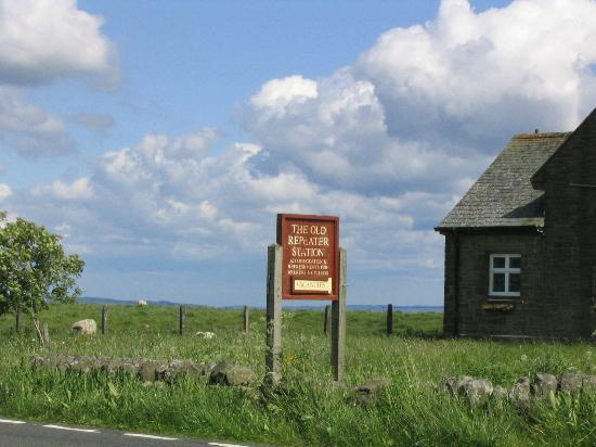 Old Repeater Station: Sign on the Road