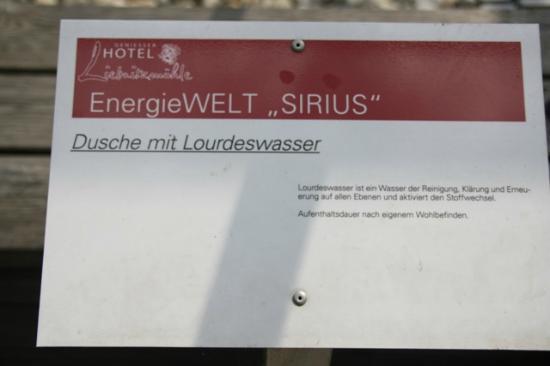 Hotel Restaurant Liebnitzmuhle : Sirius Energiewelt