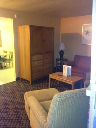 Celebration Suites: living area of first room upstairs