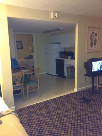 Celebration Suites: living kitchen area of room 1299 building H.