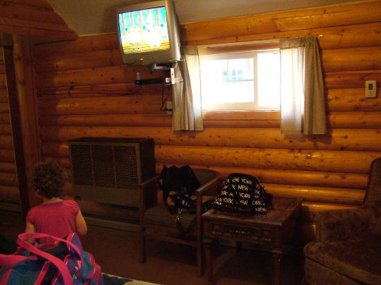 Antlers Lodge Cooke City: right side of room as you walk in the door