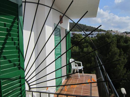 Hostal Valencia: La terrazza della camera