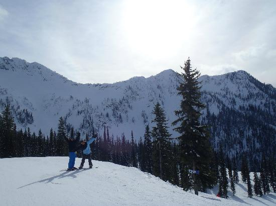 Whitewater Ski Resort: Getting ready to hit the terrain park