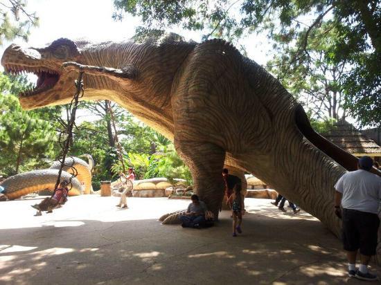 Mundo Petapa Irtra: Dinosaur swings & slide