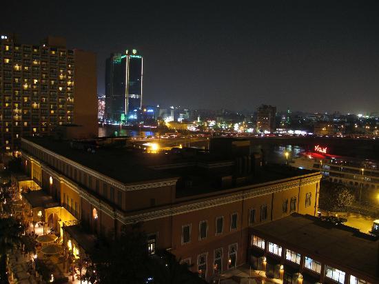 Cairo Marriott Hotel & Omar Khayyam Casino: Night time over Cairo