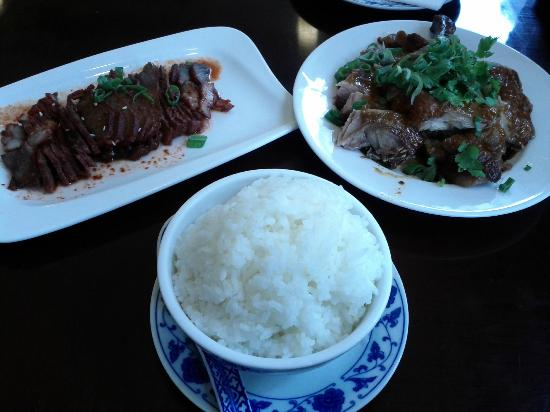 Aming Dim Sum Profi: Red pork and grilled duck