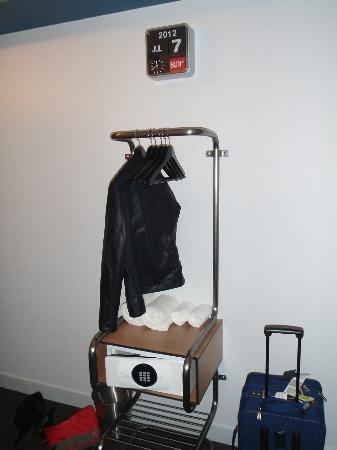 Pod 39 Hotel: The Small Coat Rack With The Digital Safe, Opposite The Door