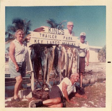 Kings Kamp: 1970's Guests with Fish Caught