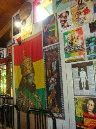 Freedom Fighters Ital Shack: A colorful display!