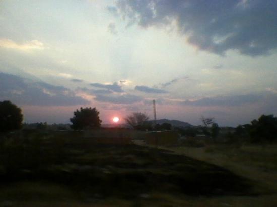 Lubango, Angola: O Por do sol no hotel