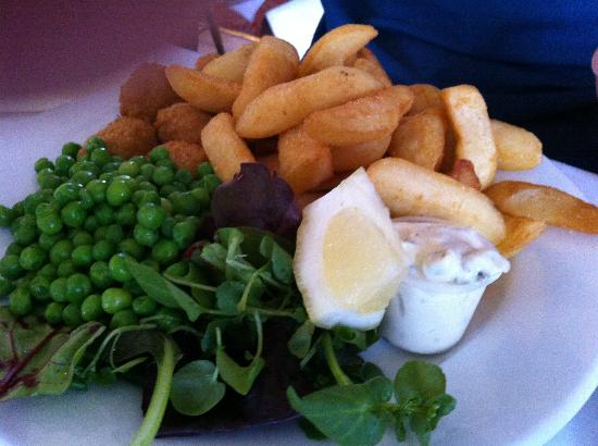 The Paris Hotel: Scampi and chips