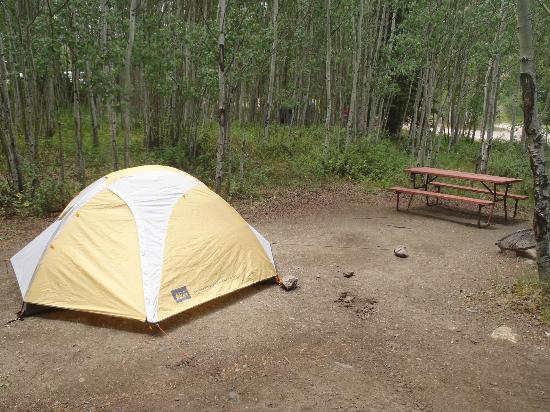 Castle Lakes Campground & Cabins: Tent Site #45