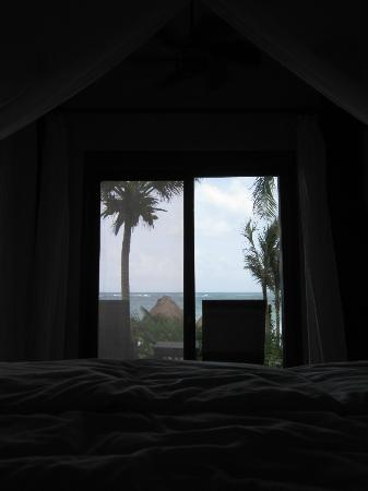 Encantada Tulum: the view from bed