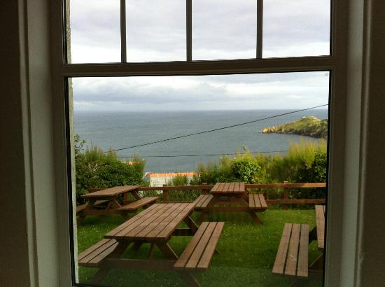 YHA Coverack: View from Room 2.