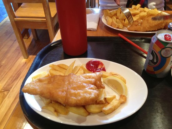 Whartons Traditional Fish & Chips: Hake Fush and Chips