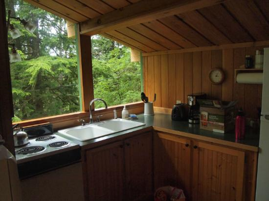 Deep Forest Cabins at Mt. Rainier : Maple Wild: sunny kitchen