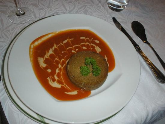 Le Cheval Rouge : Foie Gras in Tomato Sauce