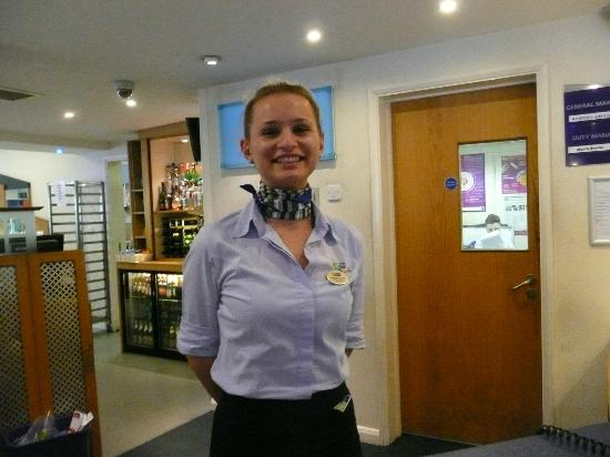 Holiday Inn Express Canterbury: The ever-smiling Maria - what a lovely girl, so helpful.