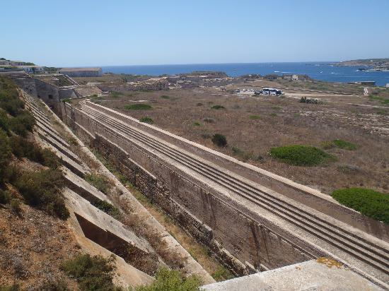 La Mola de Menorca: View from the ramparts