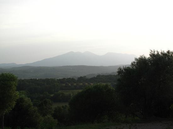 Mas Coquells: Aussicht von der Terrasse