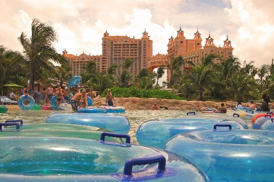 View From Lazy River Picture Of Aquaventure Water Park