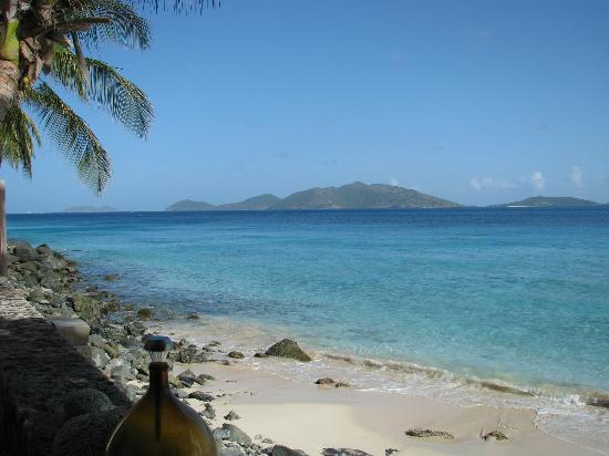 Chateau Relaxeau Caribe: Jost Van Dyke as seen from the deck of CRC