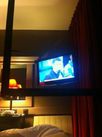 Best Western Hotel Litteraire Gustave Flaubert: First time ever I have looked through a window to ser the television