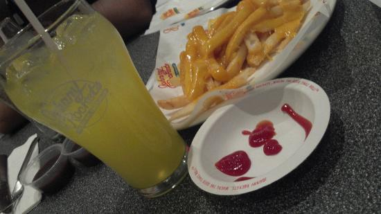 Johnny Rockets: Fries and Goombay Punch