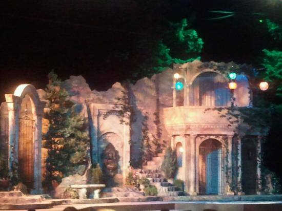 Colorado Shakespeare Festival : The set for The Twelfth Night at intermission
